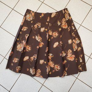 Banana Republic Womens Floral A-line Pleated Skirt